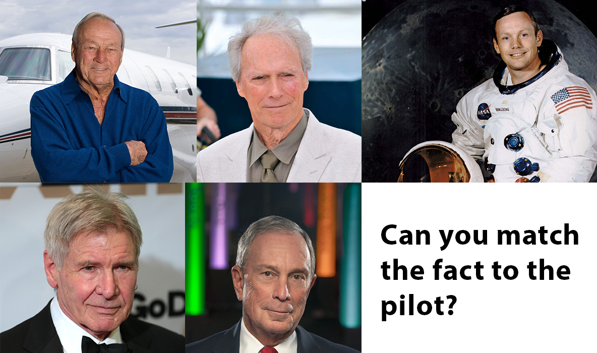 The Business Aviation Quiz: Match The Pilot To The Fact ...