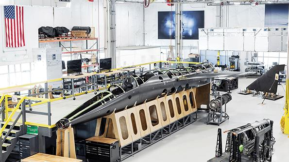 assembly of fighter aircraft