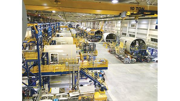 Boeing fuselage production facility
