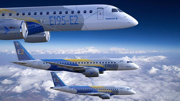 Embraer E2 medium-range airliner
