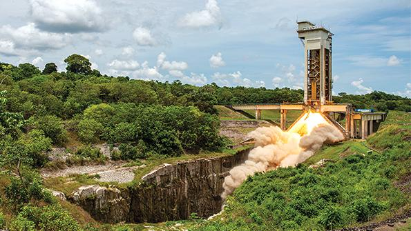 Ariane 6's test fire launch