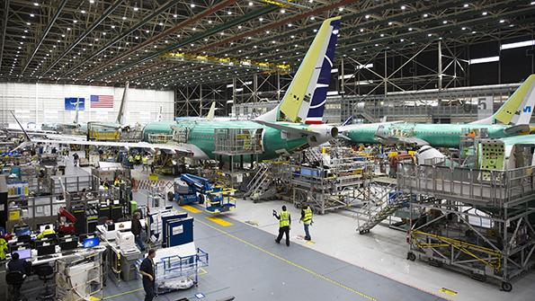 Boeing MAX production line