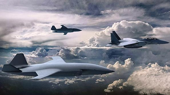 manned-unmanned teaming of fighters