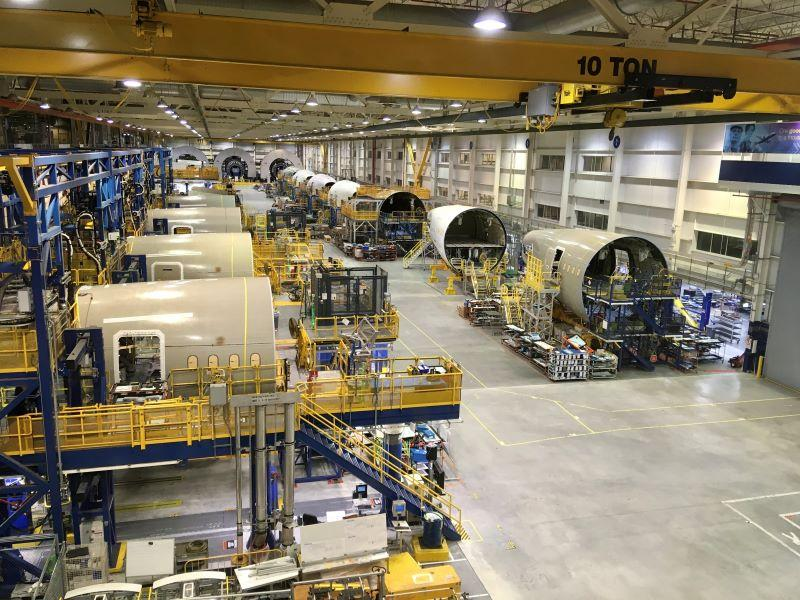 Boeing 787 fuselage production in South Carolina