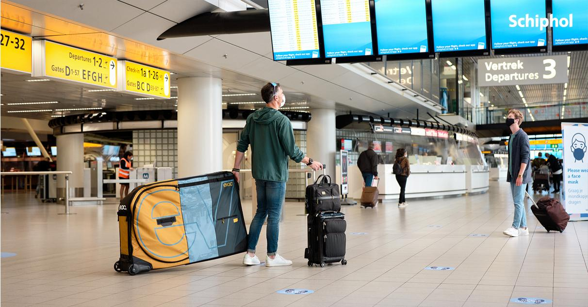 Schiphol Airport travelers