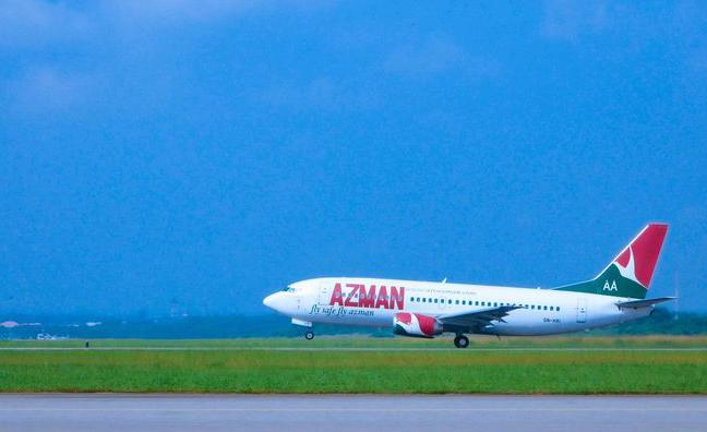 Azman Air takeoff