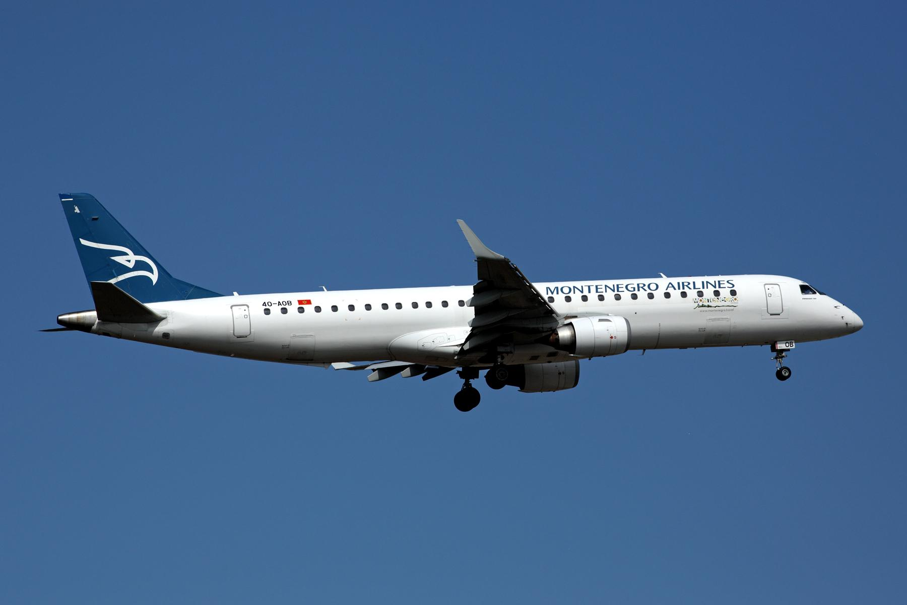 Montenegro Airlines Embraer 190