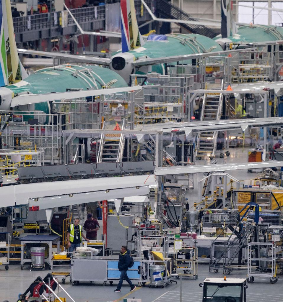 737 MAX production line in Renton